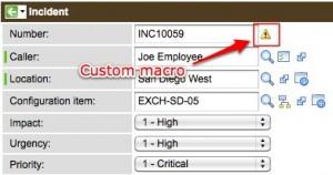 Adding a UI Macro to a Non-reference Field - ServiceNow Guru