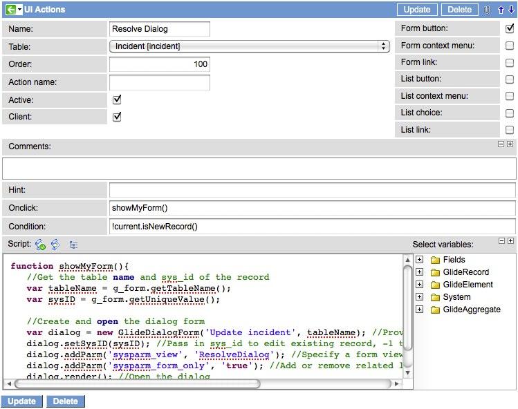 GlideDialogWindow: QuickForms - ServiceNow Guru