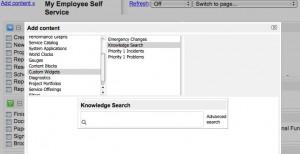 Add Knowledge Search Widget