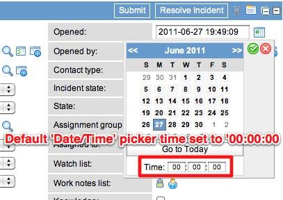 Set Default Date/Time Picker Dialog Time - ServiceNow Guru