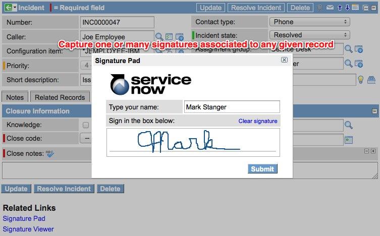 Record hand-drawn user signatures with SNCGuru Signature Pad