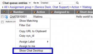 Show Chat Desktop