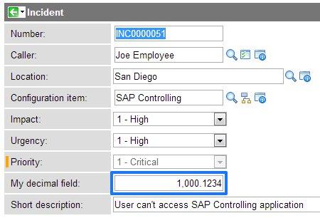 Controlling decimal field places - ServiceNow Guru