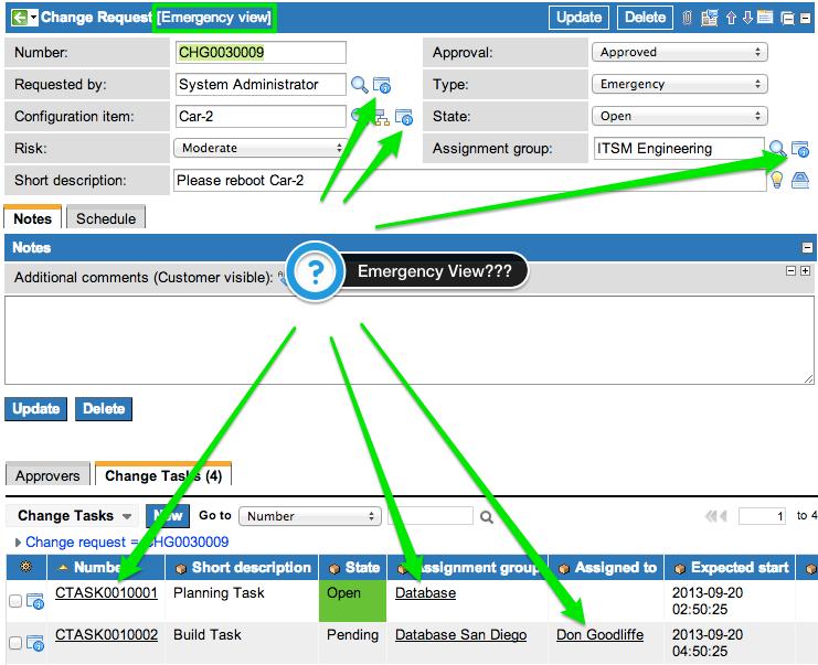 ServiceNow Form View Inheritance