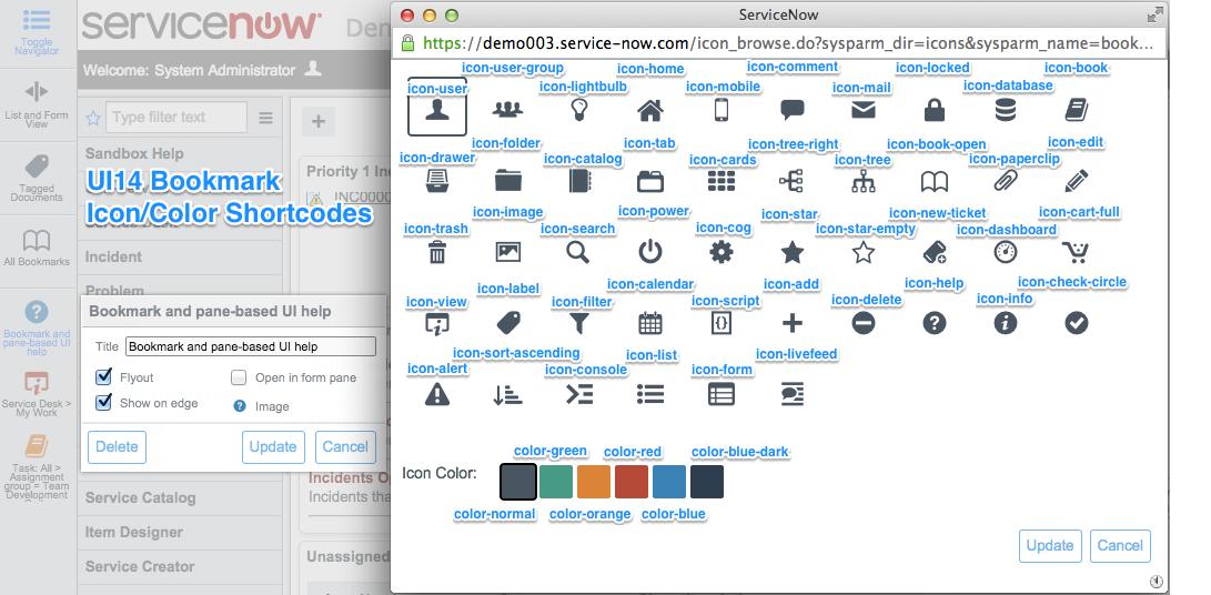 UI14 Bookmark Shortcodes