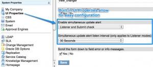 Simultneous Update Alert Properties