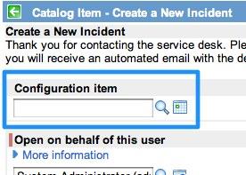 CI Change Calendar Macro Catalog Variable