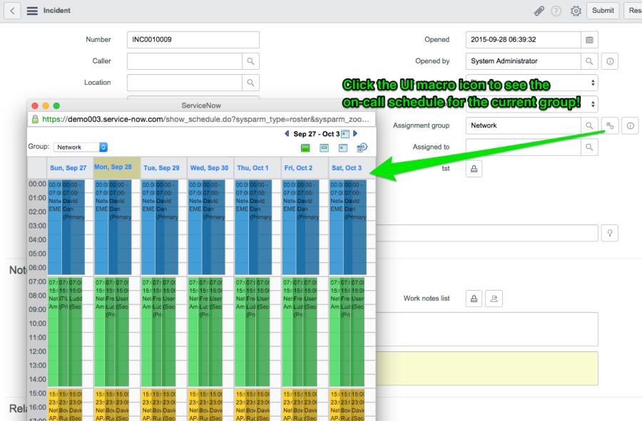 On-call Schedule Popup UI Macro - ServiceNow Guru