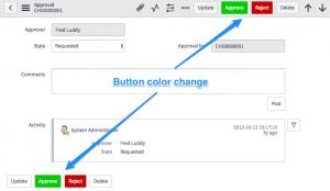 Form button color change