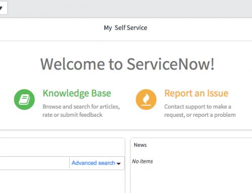 Service Portal-style Homepage Widgets